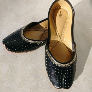 Zebidah Genuine Leather Flats